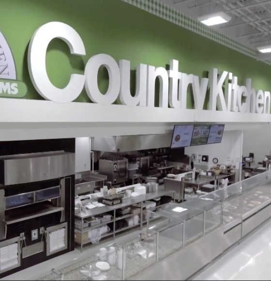 Country Kitchen in-store food counter