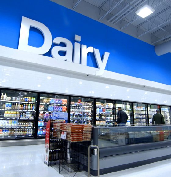 Dairy department in Highland Farms