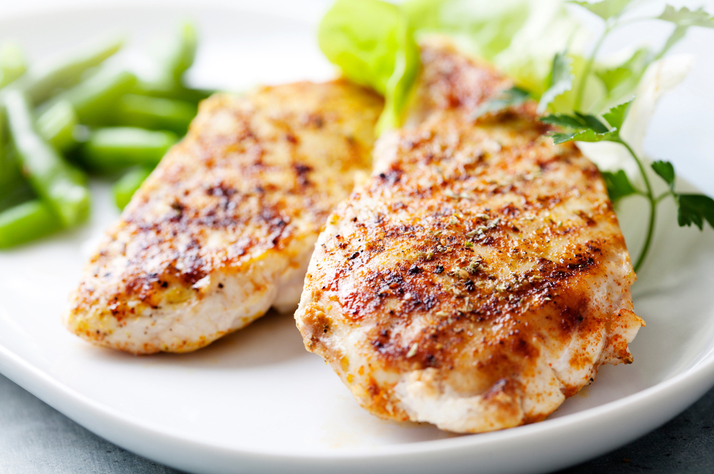 Indian-Style Chicken Breast (Prepared)