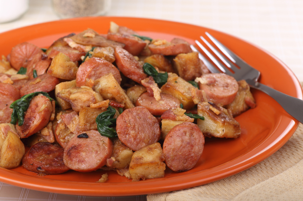 One-Pot Italian Sausages with Potatoes (Prepared)