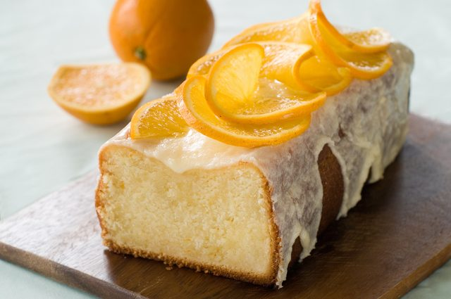 Orange Drizzled Cake Slices (Prepared)
