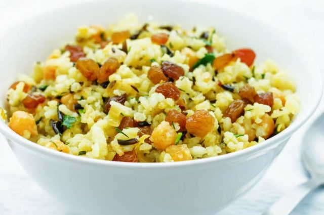 Orange Rice & Red Lentil Pilaf (Prepared)