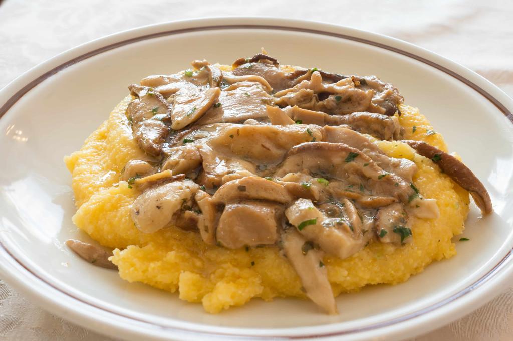Polenta with Turkey & Mushroom Sauce (Prepared)