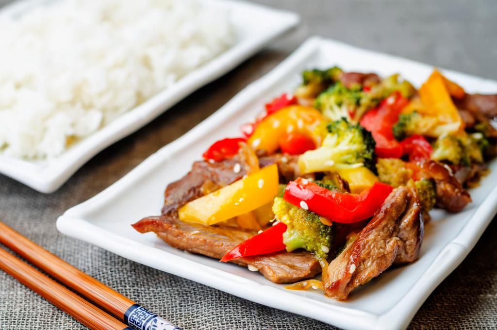 Spring Style Beef Stir-Fry (Prepared)