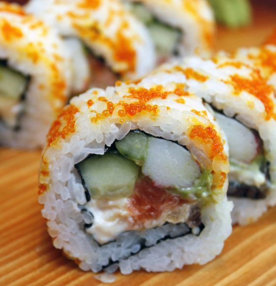 Fresh in-store California roll sushi