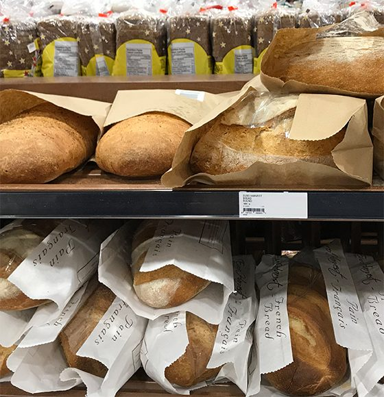 Assorted freshly baked in-store french breads