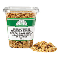 Coconut Mango Granola Cereal Product Shot