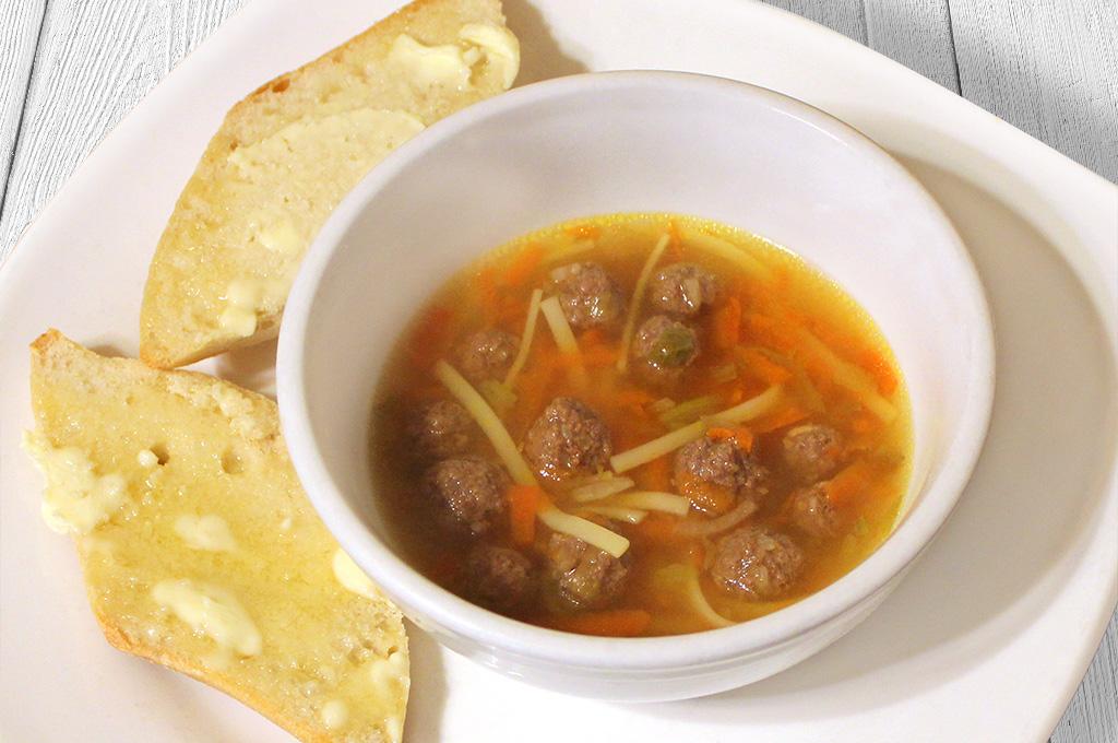 Traditional Dutch Meatball Soup (Prepared)
