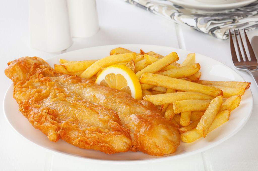 Beer-Battered Fish and Chips (Prepared)